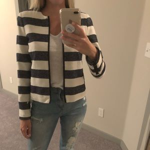 Women's blue and white blazer